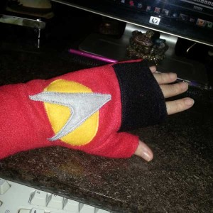Star Trek Fingerless Gloves
