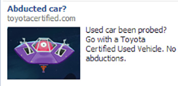 Freaky car ad from Facebook